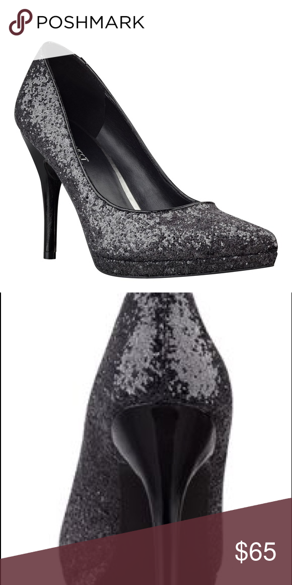 7ea302eadd8 Glitter Holiday High Heel Party Shoes Perfect for the upcoming holiday  season! Stunning black glitter