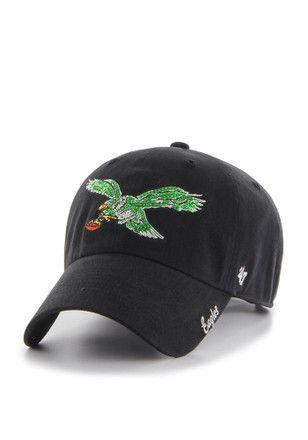 aeca16c6 47 Philadelphia Eagles Black Sparkle Clean Up Adjustable Hat | NFL ...