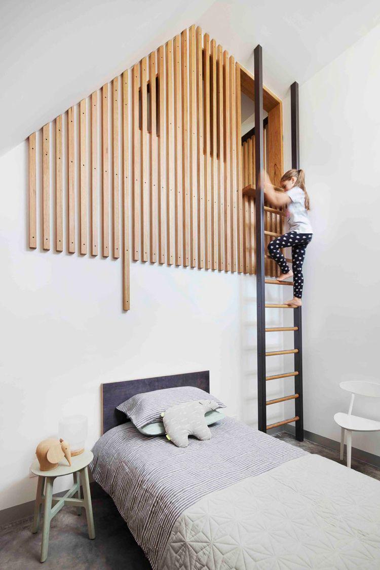 Interessante Ideen Für Kinderzimmer Einrichtungen   Leiter Zum Klettern