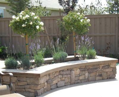 stone raised garden patio garden
