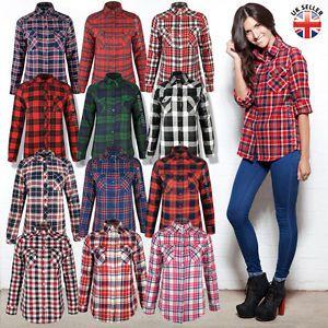 0cf23bcda47 camisas cuadriculadas para mujer manga larga | Blusas cuadriculadas ...