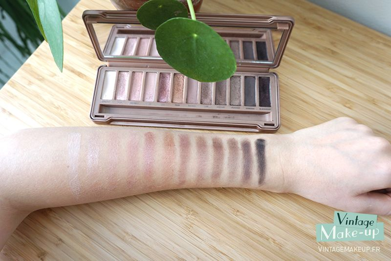 Swatch des fards à paupières de la palette Naked 3 d'Urban Decay beauty makeup beauté maquillage yeux