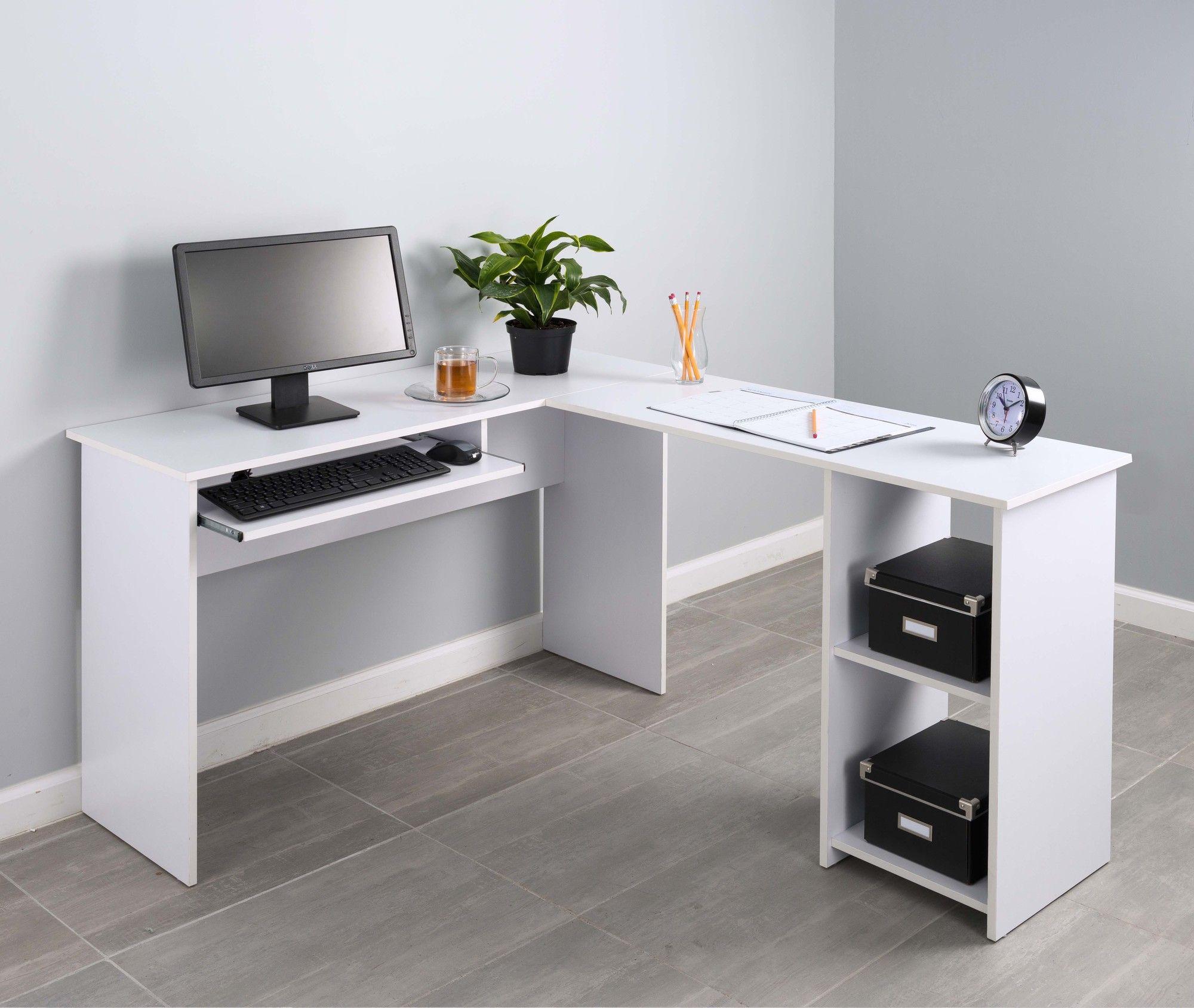 desk magnifier b l collection tuscany raw brown shaped computer desks bestar innova