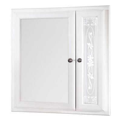 Home Depot Medicine Cabinet With Mirror Pleasing Glacier Bay 24 Inx 25 Inrecessed Mirrored Medicine Cabinet In