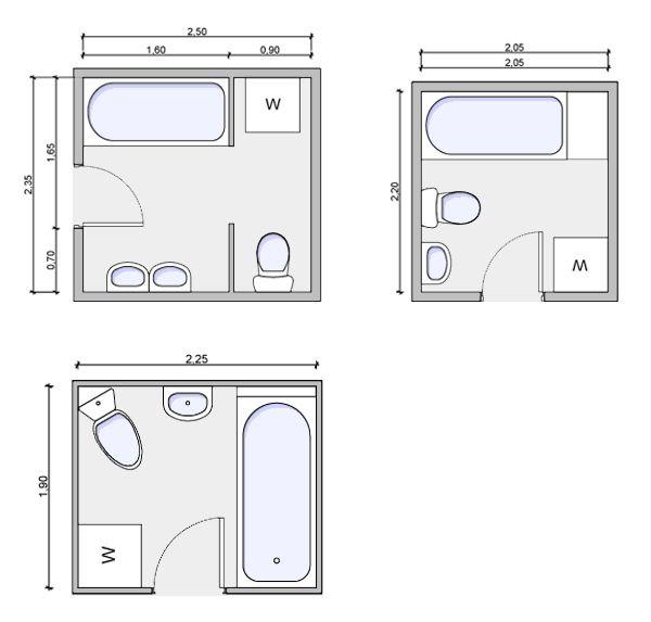 Small Bathroom Floor Plan Ideas, Small Bathroom Floor Plans