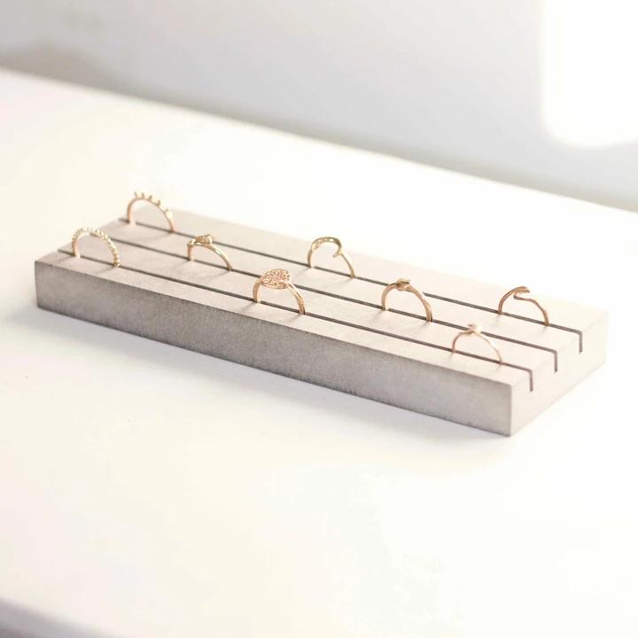 Présentoir de bijoux en bois Support de bague de boucle d/'oreille