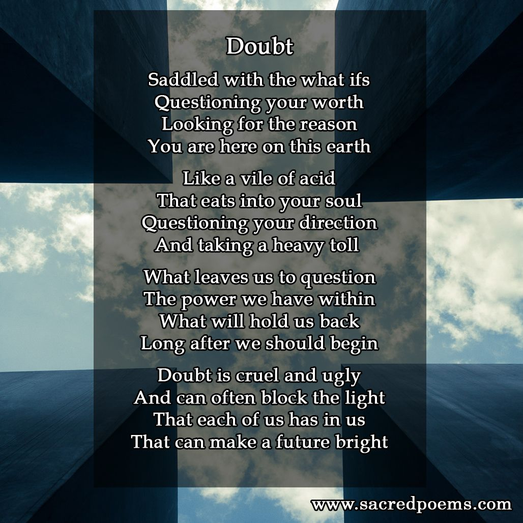 Inspirational poem about doubt | Inspirational Poems - Memes