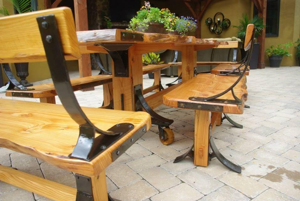 Custom Made Live Edge Industrial Farmhouse Table With Breadboard Ends