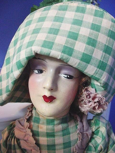Composition/Cloth Boudoir Doll