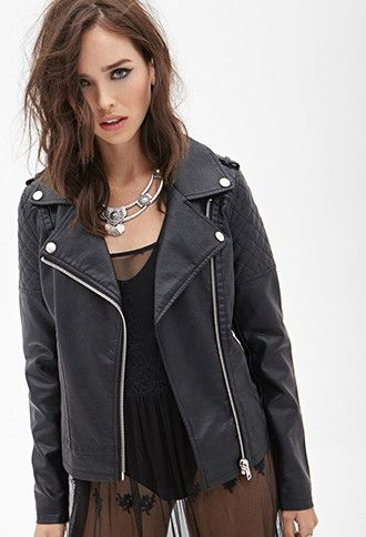 Quilted Faux Leather Jacket Vegan Leather Jacket Leather Jacket Faux Leather Jackets