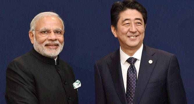 Japanese premier Shinzo Abe arrived in New Delhi on a three-day visit for annual summit with Prime Minister Narendra Modi during which the two sides are expected to seal a Rs 98,000 crore deal for India's first bullet train track