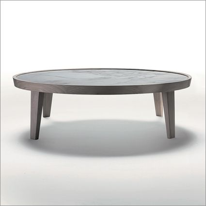 flexform dida round marble coffee table solid wood