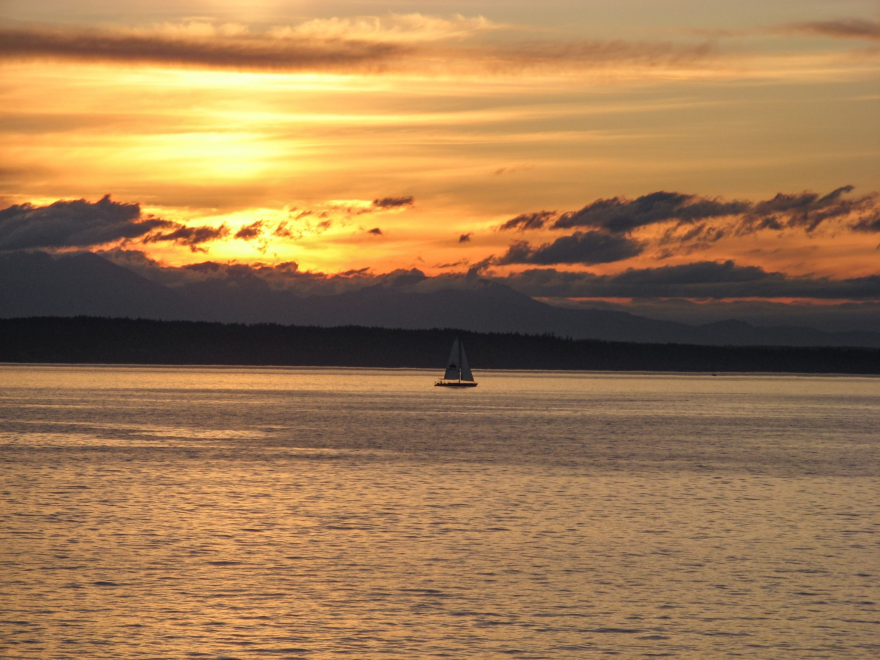 Sunset Cruise Pugetsound Like Us To Start Each Day With A