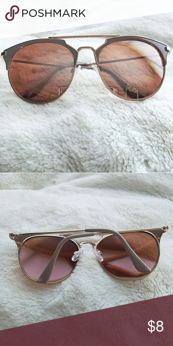 Charming Charlie Cat Eye Sunglasses Rose Gold with taupe framing ...