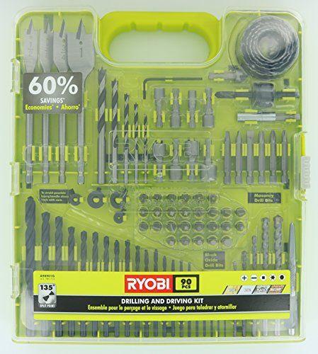 Ryobi A98901g 90 Piece Drilling And Driving Kit For Wood Https Www Amazon Com Dp B013tfilna Ref Cm Sw R Pi Dp U X Fj9sab5kn3 Ryobi Drill Ryobi Drill Bits