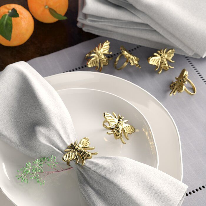 Honey Bee Napkin Ring Set #napkinrings
