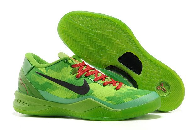 hot sale online c07bb 90611 Free Shipping Only 69  Kobe 8 Christmas Grinch Green Red Black 555035 701