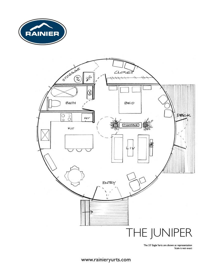 Yurt floor plans rainier yurts yurts homes pinterest for Yurt home plans