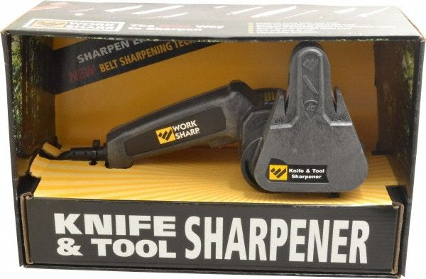 Straight Cutting Tool Sharpeners; Includes: 20° Kitchen Knife Sharpening Guide; 25° Outdoor Knife Guide Includes Serrated Knife Guide & Scissor Guide; 6 Piece Abrasive Belt Kit: (2) P80 Coarse (2) P220 Medium (2) 6000 Fine; User's Guide; Work Sharp WSKTS