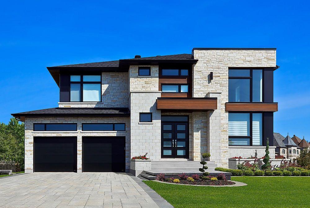 La brique Lotis a été créée pour complémenter la pierre Lorado, pour - Modeles De Maisons Modernes