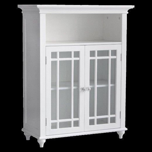 Neal 2 Door Floor Cabinet White Elegant Home Fashions Elegant Home Fashions Craftsman Storage Cabinets Elegant Homes