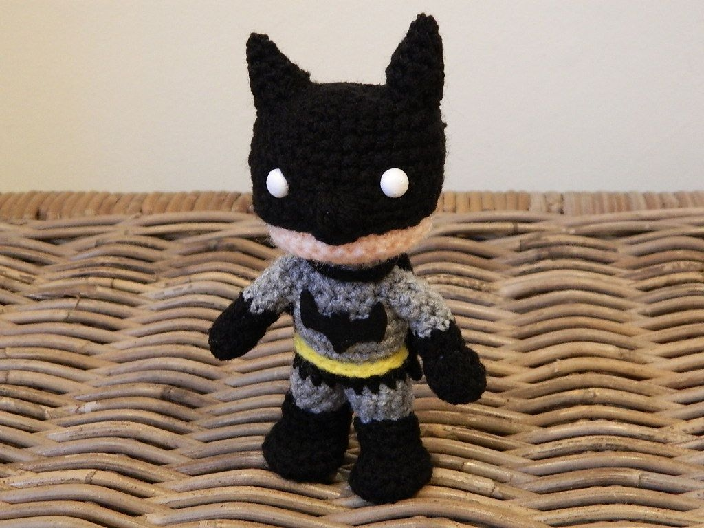 Amigurumi Chibi Doll : Batman crochet amigurumi chibi plush doll dc by lottiescreations