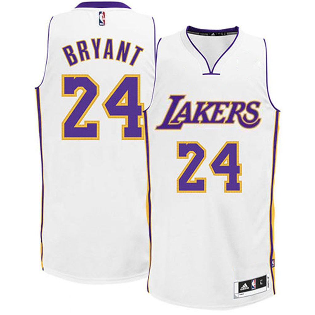 2fcf81881 Los Angeles Lakers  24 Kobe Bryant Alternate White Authentic Jersey ...