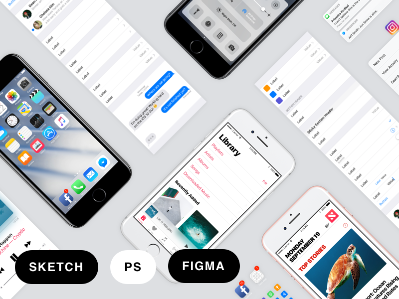 Facebook ios 10 sketch figma psd gui user interface design facebook ios 10 sketch figma psd gui by jeff smith design popular dribbble pronofoot35fo Images