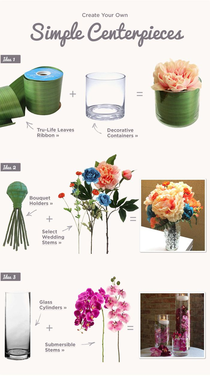 Create Your Own Simple Centerpieces | Alyssa quince | Pinterest ...