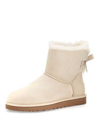 Mini Bailey Bow-Back Boot, Salt (Off