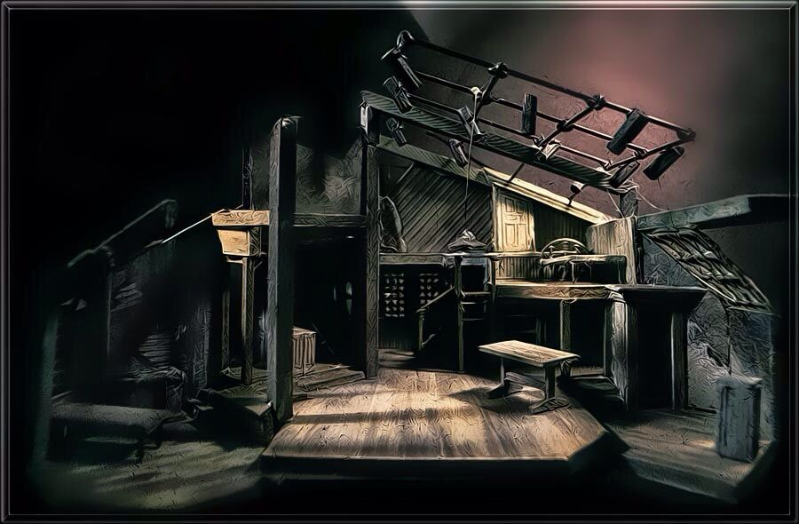 Scenic Design For The Diary Of Anne Frank Model Making