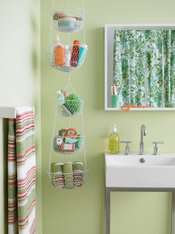 badezimmer gestaltung aufbewahren hängen grün wand Organization - gestaltung badezimmer