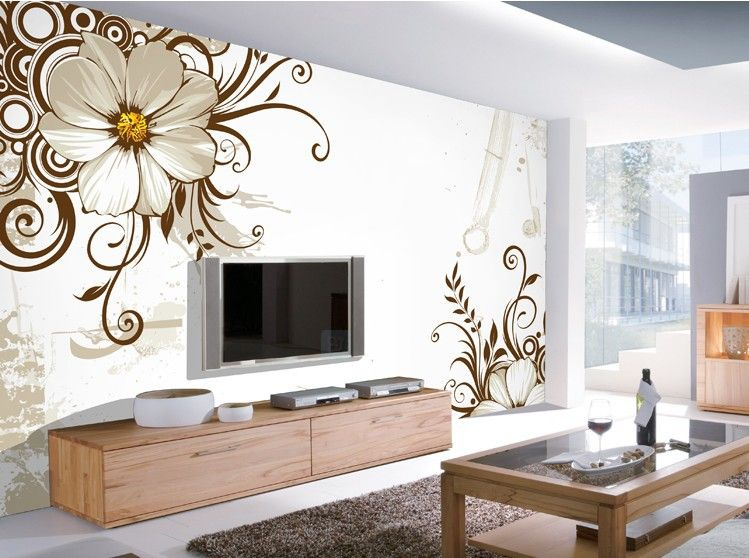 Living Room Flower Printing Wall Paper 3d Wallpaper Mural | Decor ...
