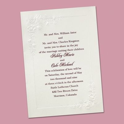 Invitations Starting At Ann S Bridal Bargains For Affordable Wedding With Stylish Designs Like This Cherished Roses Invitation In White