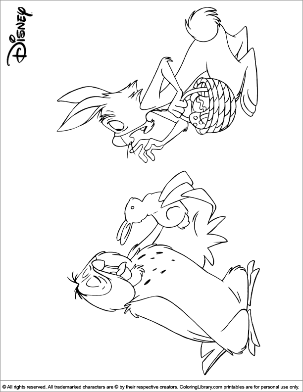 Disney Easter Coloring Pages | Disney coloring sheets ...