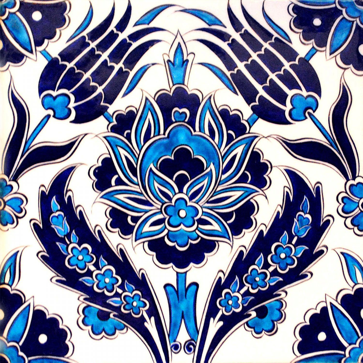 Iznik Ceramic Tile Floral Design - Buy Iznik Tile Product on Alibaba ...