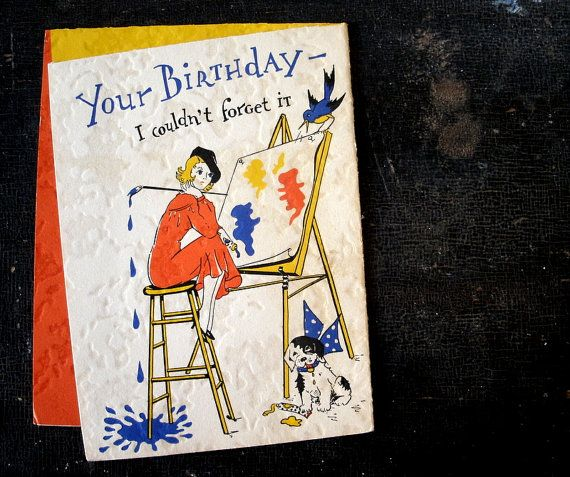 Image Result For Birthday Card For Artist Cards Pinterest