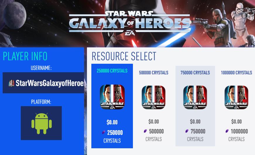 Hack Star Wars Galaxy Of Heroes
