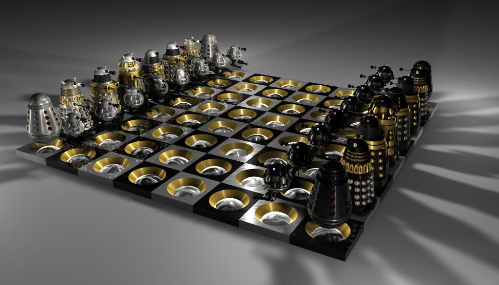 Contemporary Chess Set decoration, breathtaking ultra modern decorative chess sets and