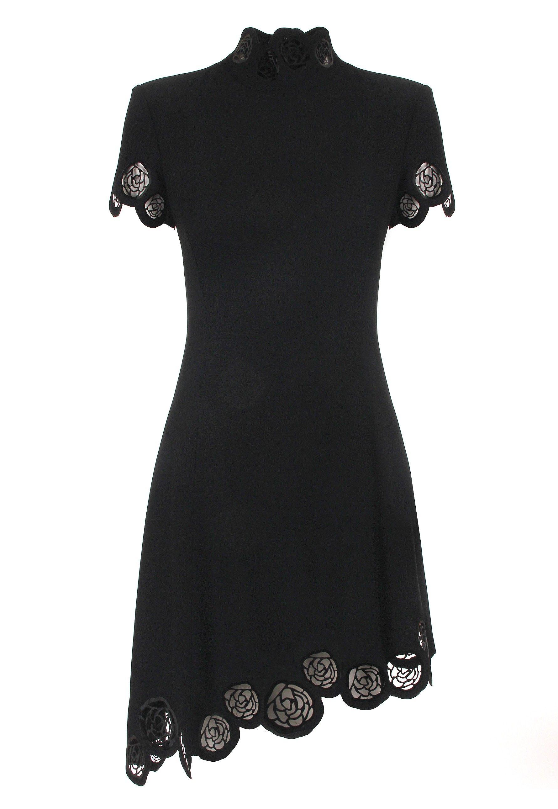 Versace Woman Zip-detailed Cutout Crepe Dress Black Size 42 Versace Cheap View Marketable Online Professional Cheap Online Finishline Cheap Price A5hSHhM