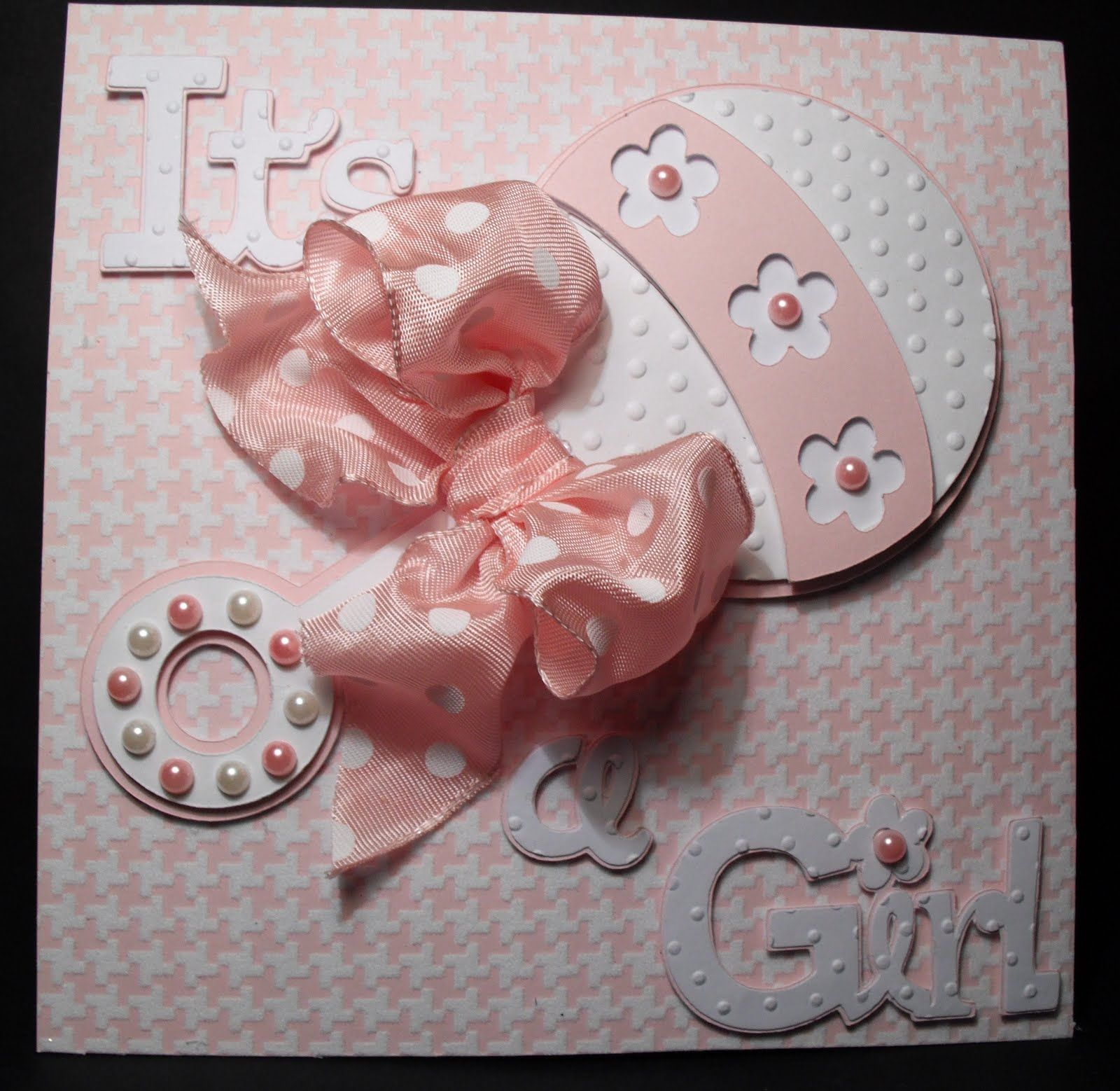 Baby Girl Card Making Ideas Part - 34: Itu0027s A Girl Baby Shower Card