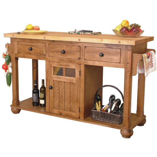 Images of Sunny Designs 2522RO Sedona Kitchen Island Table in Rustic Oak AppliancesConnection ...