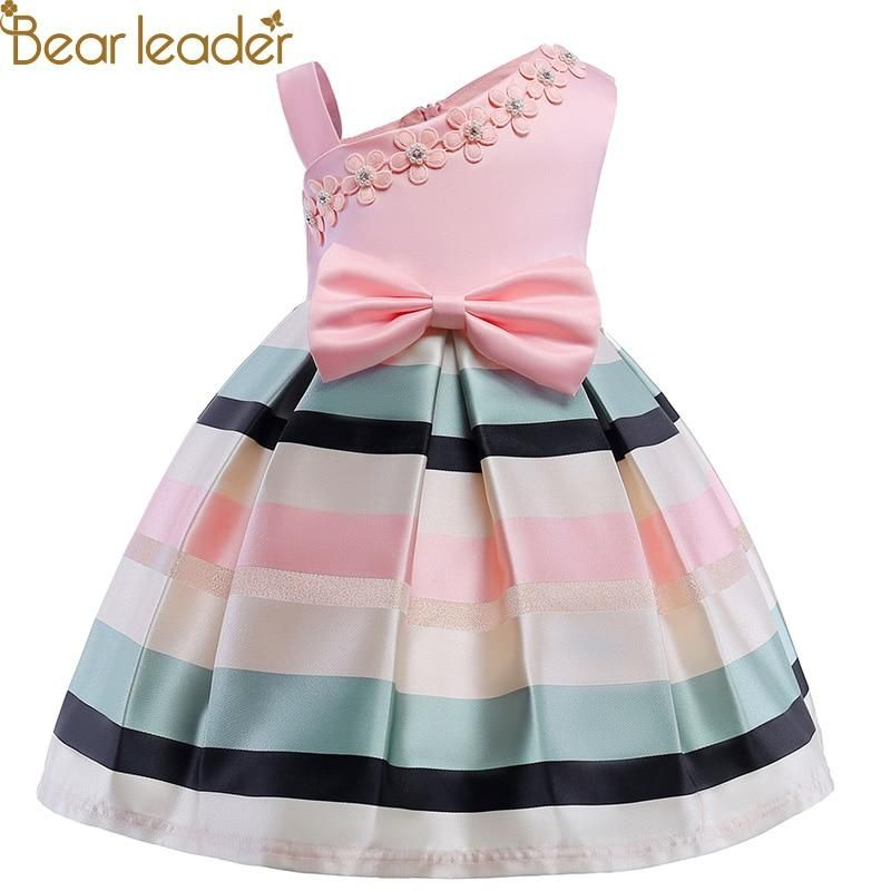 Bear Leader Girls Dresses 2018 New Girls Pearl Flower Party Sleeveless Dress Str Con Imagenes Vestidos Bonitos Para Nina Vestidos Para Ninas Vestidos De Princesa Para Ninas