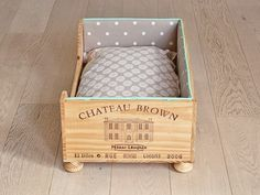 Dog Bed Made Out Of A Recycled Wine Box Crate