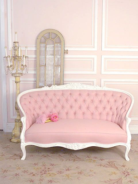 I Like The Style And The One Color Thing But Maybe In Blue Or Purple Or Something I Couldn T Handle This Much Pi Pink Furniture Modern Sofa Designs Furniture