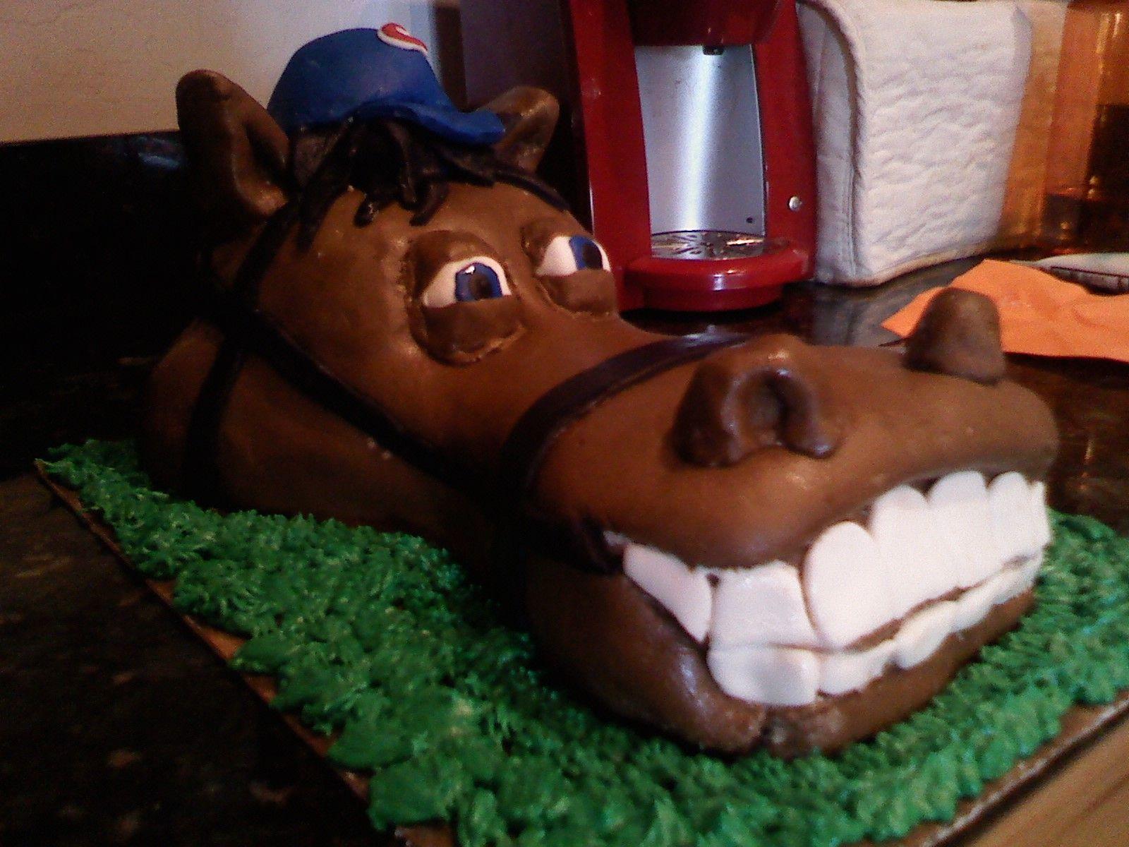 Horse Cake Put Alabama Roll Tide Hat On Horse Horse