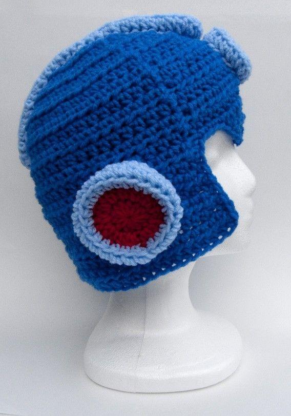 7930af738a1 crochet Mega Man helmet MEDIUM by AnotherCastleCrochet on Etsy ...