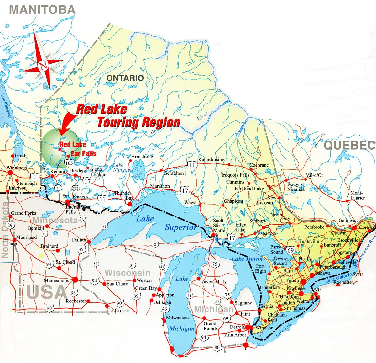 Map Of Canada Highway 1 Le Canada Carte | Canada map, Canadian travel, Timmins