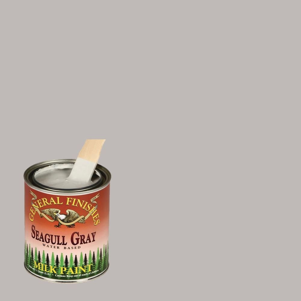 Best General Finishes 1 Qt Seagull Gray Interior Exterior Milk 400 x 300