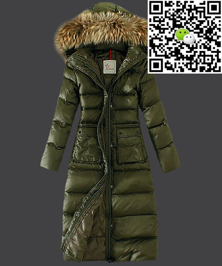 b7828b87562f Moncler Down Coat Featured Women Slim Windproof Army Green